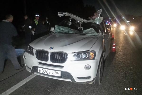 Водитель BMW X3 погиб на месте аварии