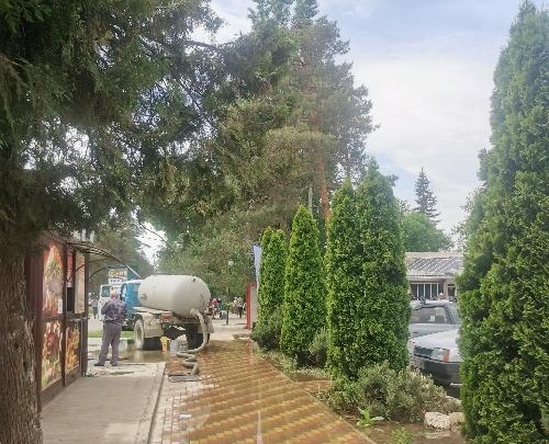 Центр Горячего Ключа остался без воды из-за аварии