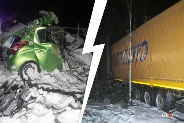 По словам очевидцев,Hyundai занесло, и машина выехала на встречку