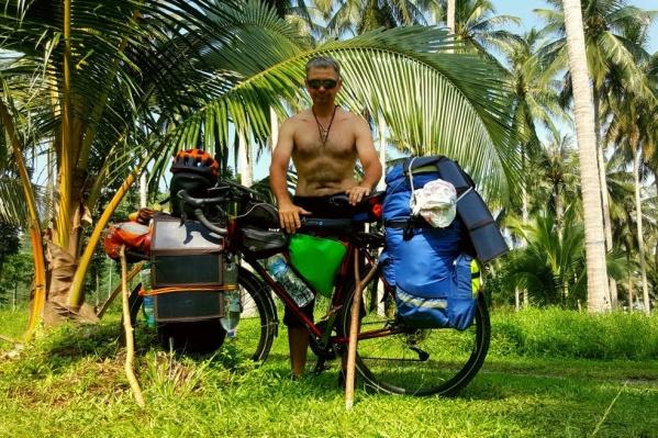 Большая часть путешествия Андрея пришлась на жаркие страны