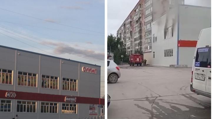 Под Новосибирском загорелся ТЦ — повара перекалили масло во фритюре