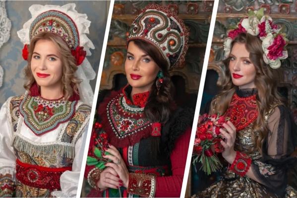 """Пожалуй, самую красивую <a href=""""https://www.e1.ru/text/style/2019/10/20/66277432/"""" class=""""_"""" target=""""_blank"""">фотосессию для участниц конкурса устраивали в 2019 году</a>. В центре — победительница того года Наталья Маринова"""
