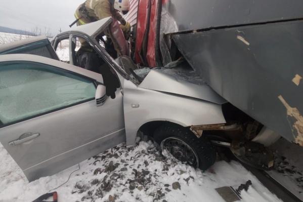 Пострадавший в аварии находится в реанимации