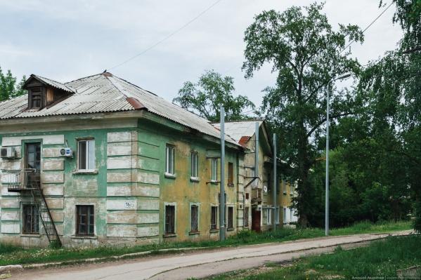 В поселке Кирзавод в основном построили двухэтажные дома