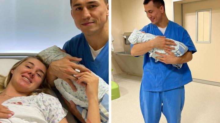 У олимпийского чемпиона из Новосибирска родился сын. Рассказываем, как назвали малыша и сколько он весит