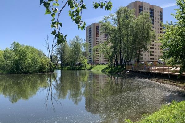 Один из водоемов примыкает к «Ерик-парку»