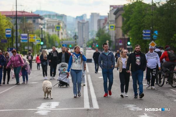 Проспект Мира стал пешеходным до конца лета