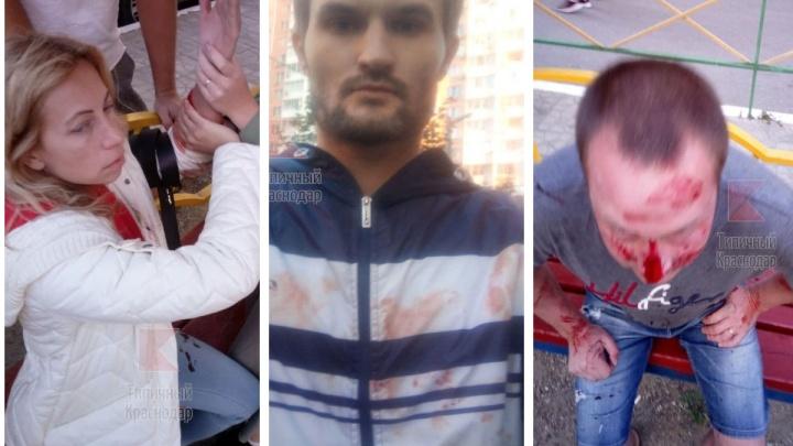 В Краснодаре семейные пары устроили поножовщину на детской площадке, пострадали трое