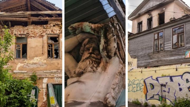 Никому не нужные: подборка брошенных исторических домов Ярославля