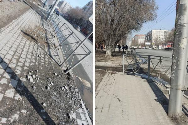 Забор привели в порядок после публикации НГС