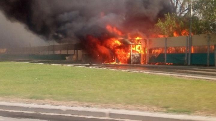 В деревне Ванюки под Пермью произошел крупный пожар. Видео