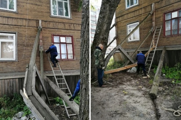 Жильцам пришлось укрепить опору дома самостоятельно и за свой счет