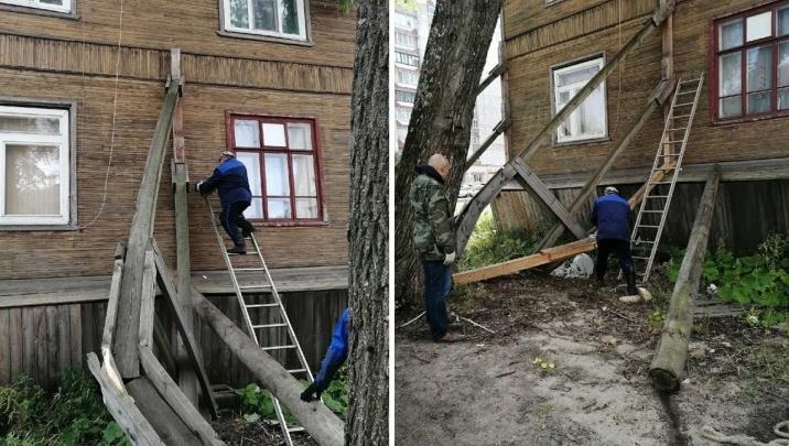 Власти Архангельска ответили, чего ждать жильцам падающего дома на Выучейского