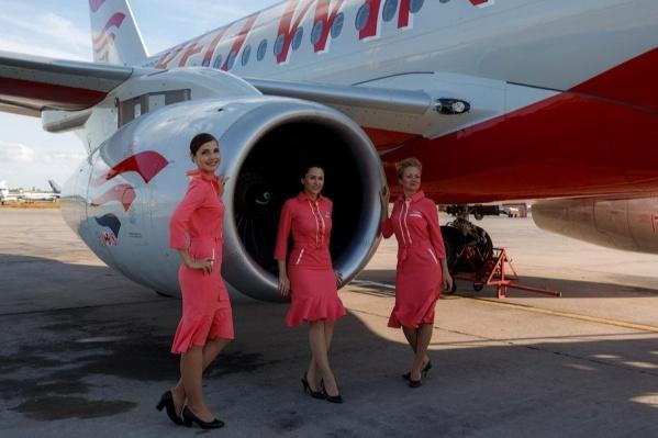 Самолет Sukhoi SuperJet 100 авиакомпании Red Wings