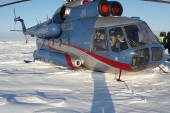 За пассажирами направили резервный вертолет