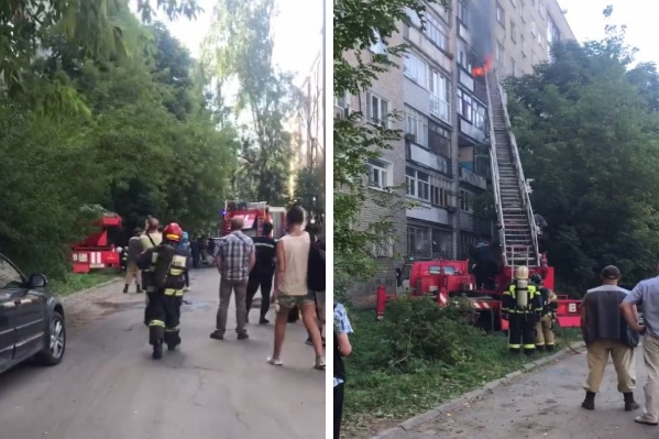Тушить огонь приехали пять бригад пожарно-спасательных частей