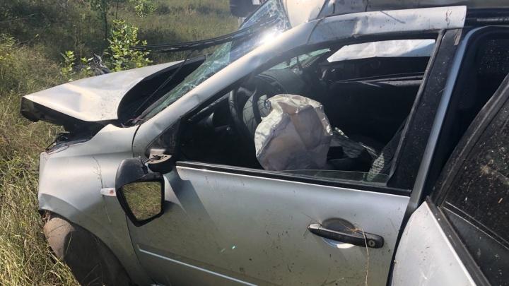 Спасли подушки безопасности: в Волгоградской области легковушка вылетела под колеса «Газели»