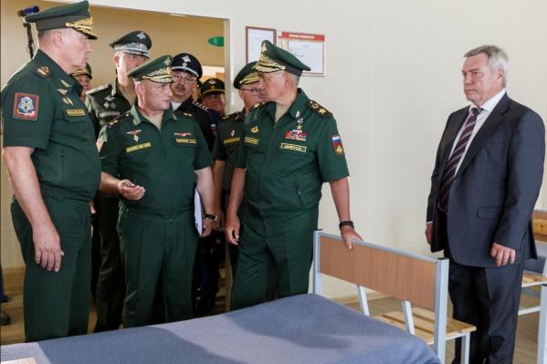 У министра обороны возникли к губернатору вопросы гастрономического характера