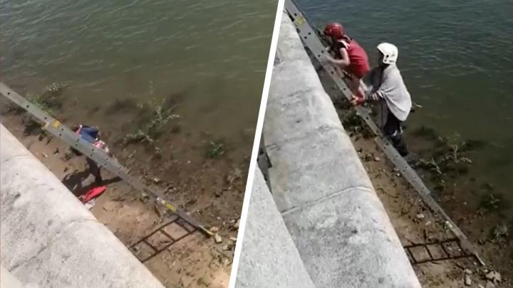 12-летнюю девочку снесло течением на набережной Оби — ее вытаскивали спасатели