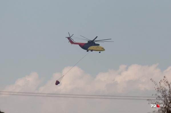 Вертолеты над головами жители области слышат до сих пор. Борьба с пожарами пока не окончена
