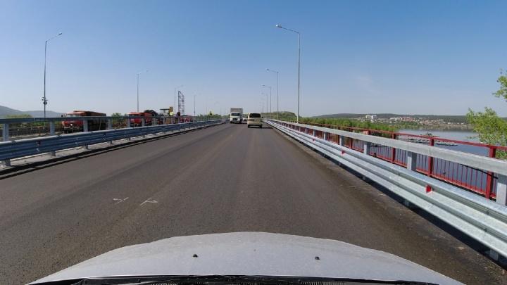 На новом мосту через реку Сок открыли движение транспорта