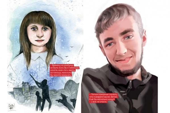 В проекте приняли участие художники со всего мира. Они нарисовали портреты героев