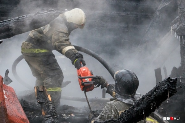Площадь пожара составила 80 квадратных метров