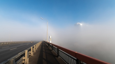 """Ростов накрыло в первый день локдауна: <nobr class=""""_"""">20 кадров</nobr> исчезнувшего в тумане города"""