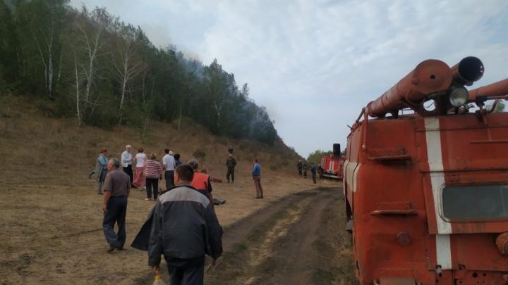 Пожар на горе Юрактау потушили