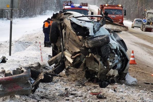 Серьезная авария произошла на трассе Тюмень — Ханты-Мансийск