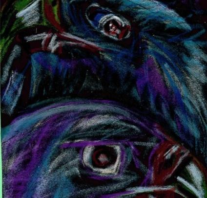 Дети из психиатрического отделения в Сургуте нарисовали картины. Это почти искусство, посмотрите