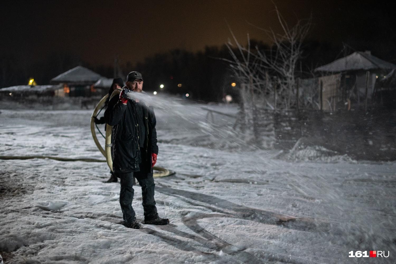 В Ростове снега не было, а на съемочной площадке он «валил». Как настоящий!