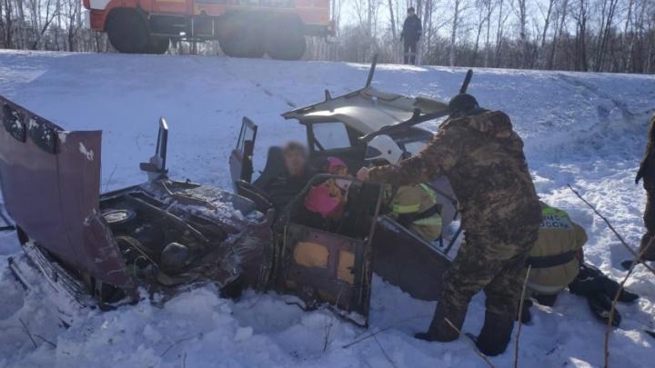 В Курганской области уснувший за рулем водитель погиб в ДТП с фурой