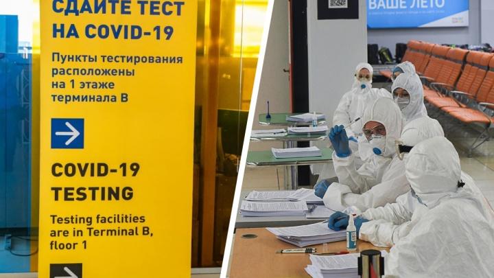 Перед запуском международных рейсов в Кольцово открыли новый пункт тестирования на COVID-19