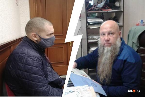 Виктор Джупина (справа) — один из пострадавших от Александра Саулина