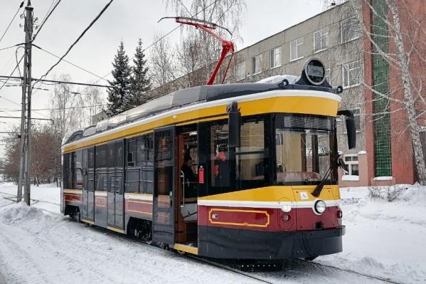 Трамвай в Западном депо Екатеринбурга