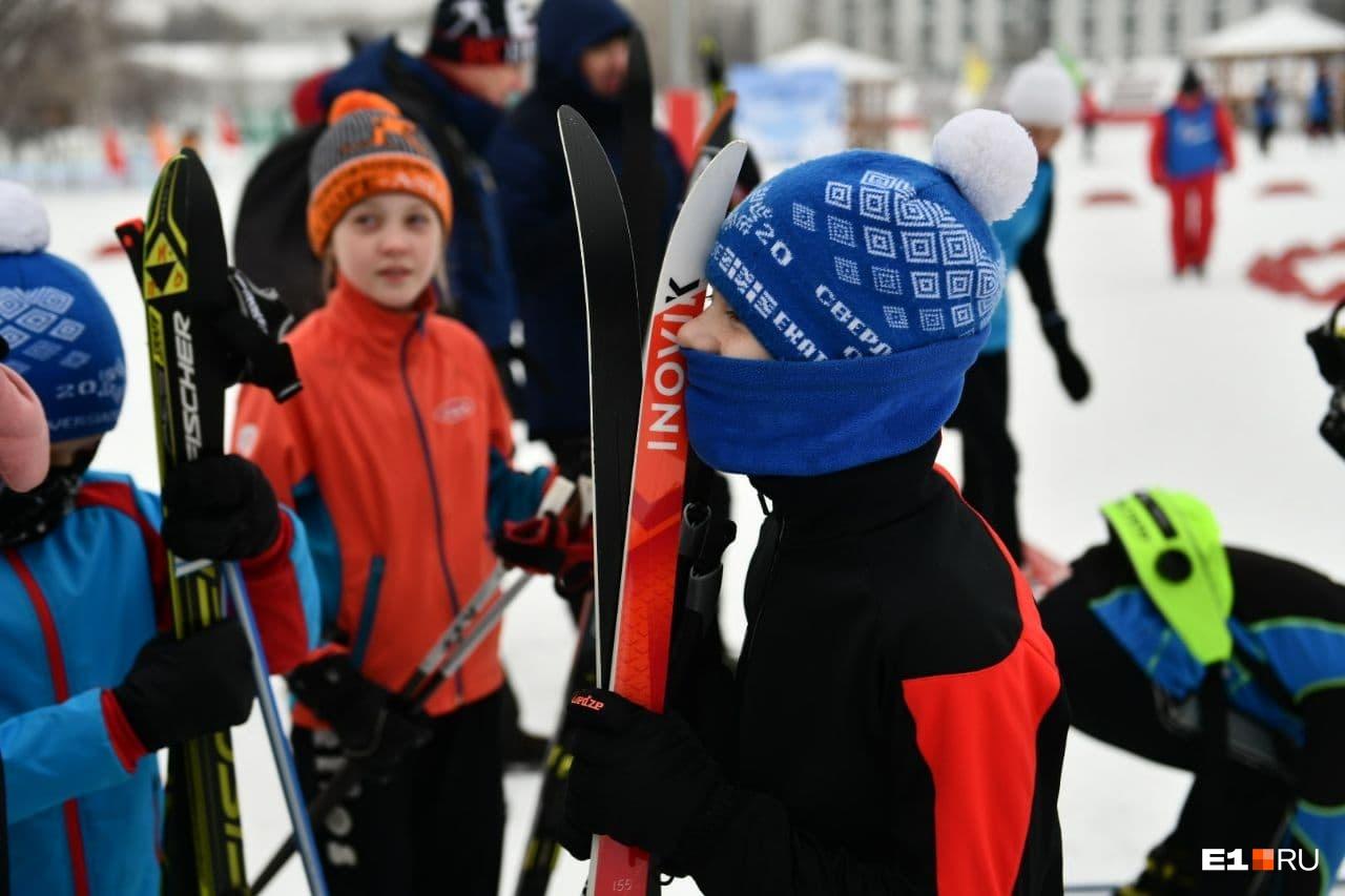 В «Калининце» было гораздо больше профессионально экипированных лыжников