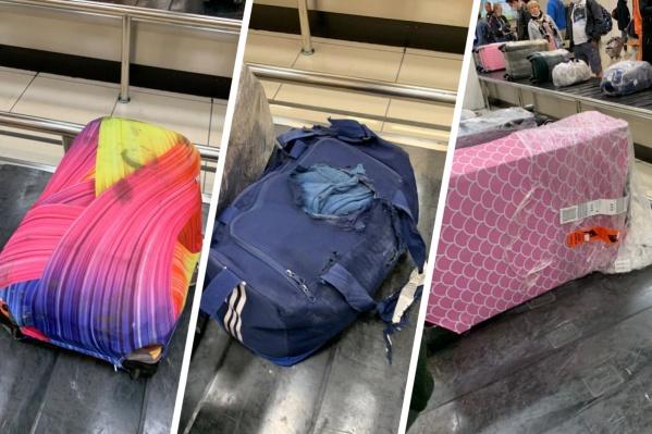 Екатеринбуржцы получили из Турции поврежденный багаж