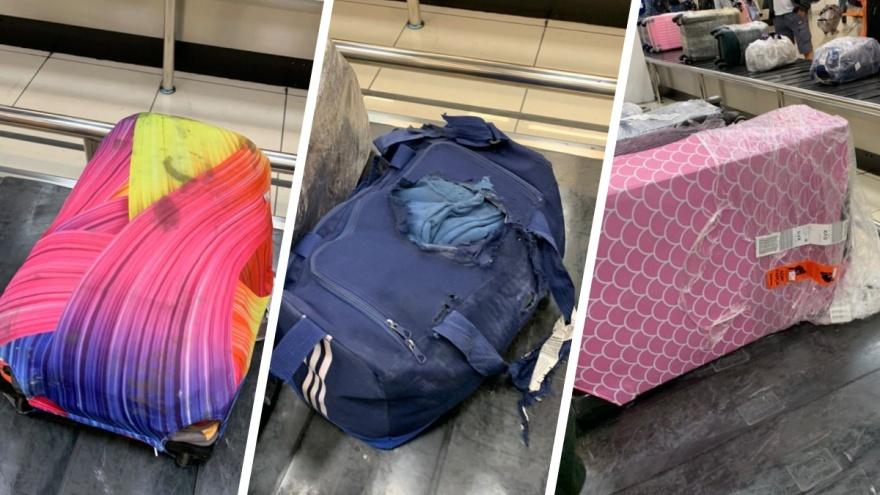 Сумки разорваны, чемоданы расплющены. Екатеринбургские туристы получили багаж в аэропорту поврежденным