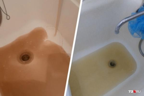 Такая вода текла из кранов в Тюменииз-за ввода магистрали в Каскаре