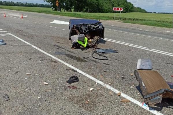 Удар был такой силы, что машину буквально разорвало на части