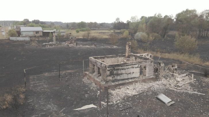 Так выглядят сгоревшие дома с высоты