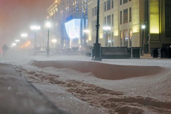 Город замело снегом