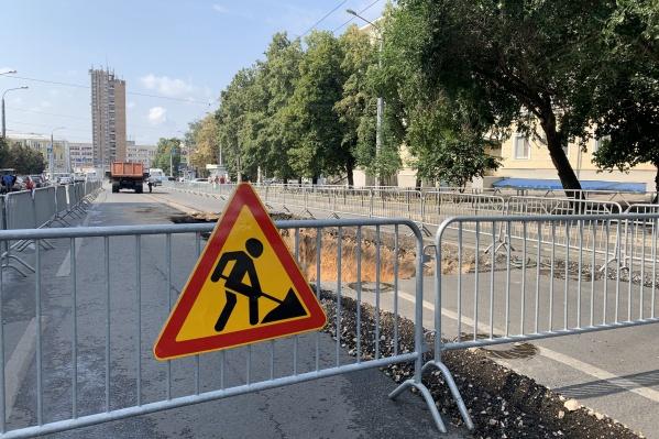 Часть дороги уже разрыли
