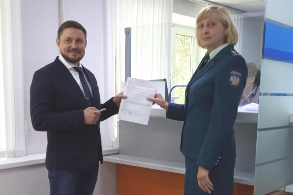 В Архангельске одним из первых получил сертификат КЭП президент Торгово-промышленной палаты Архангельской области Виталий Лочехин