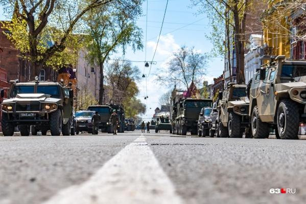 Перед парадом Победы в город перевезут технику