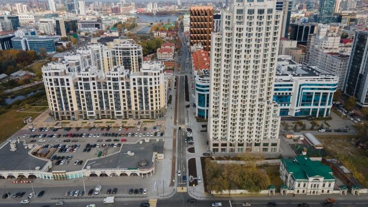 Ее ждали целый год. Смотрим на самую стильную улицу Екатеринбурга с высоты птичьего полета