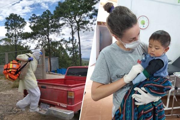 Анна работает в Гватемале практически год