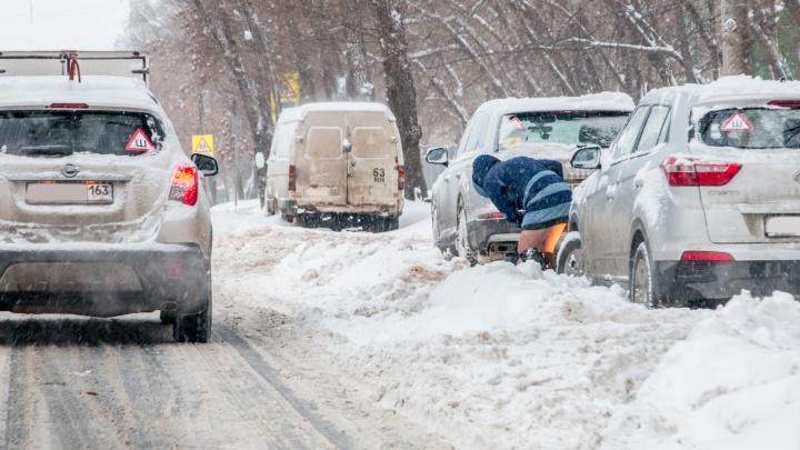 Одному из подрядчиков, который убирает снег в Самаре, объявили предостережение