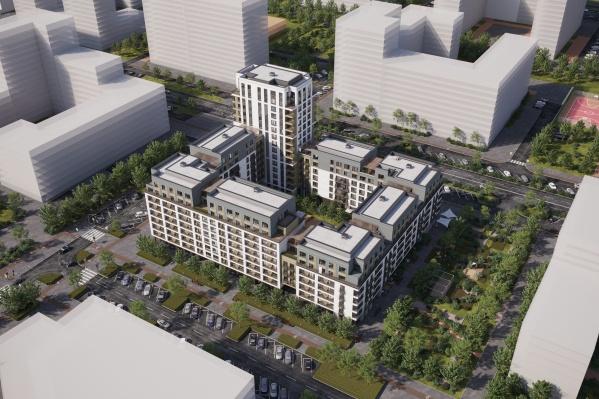 Новый дом «Брусники» будет переменной этажности